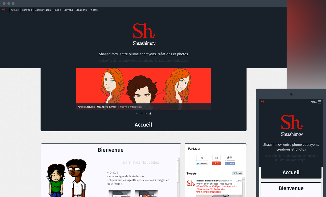 Version 4 du Site de Shaashimov